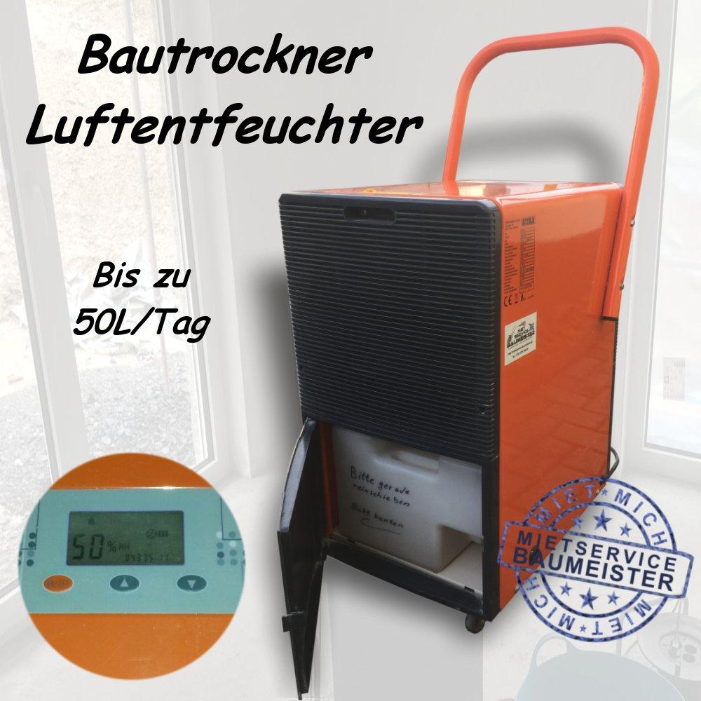 Bautrockner Luftentfeuchter Entfeuchter Trockner 50 Liter