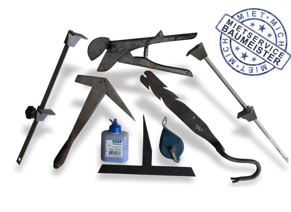 eindecken und schiefern, Werkzeug