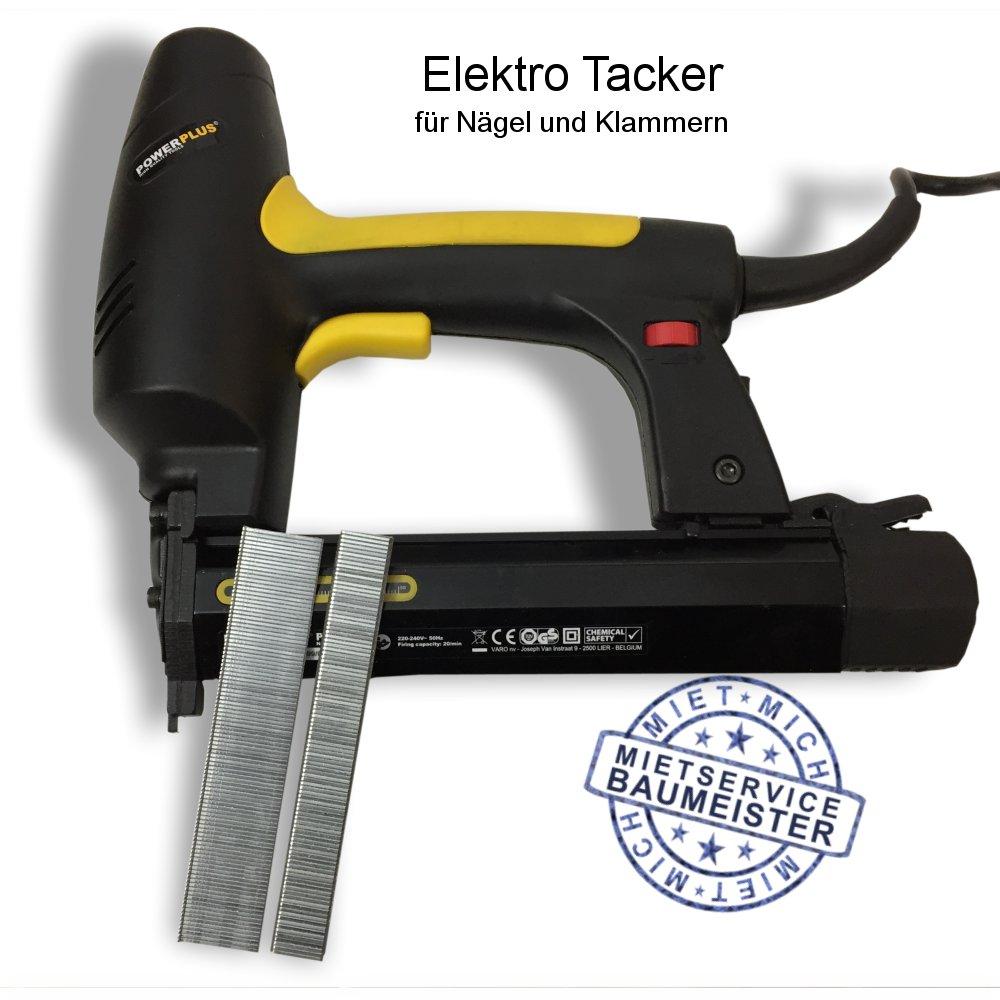 Tacker, Nagler, Elektro, Elektrotacker, Elektronagler, t-Stifte, Klammern, Nageln, Nägel