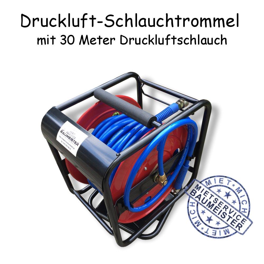 Druckluft - Schlauchtrommel Druckluftschlauch 30m