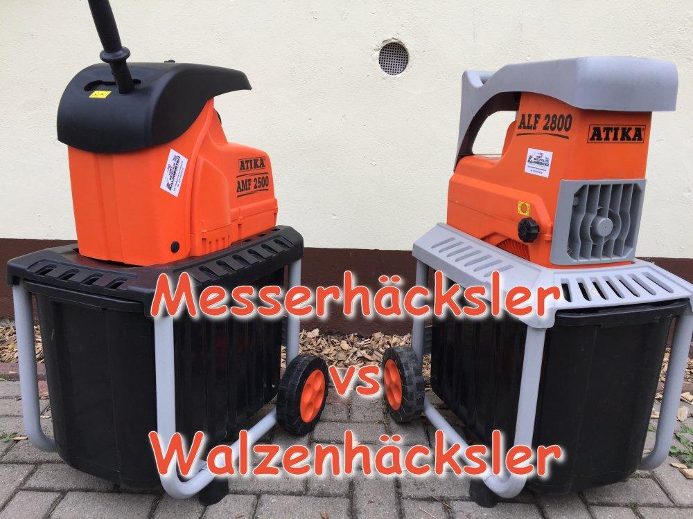 Messerhäcksler vs Walzenhäcksler