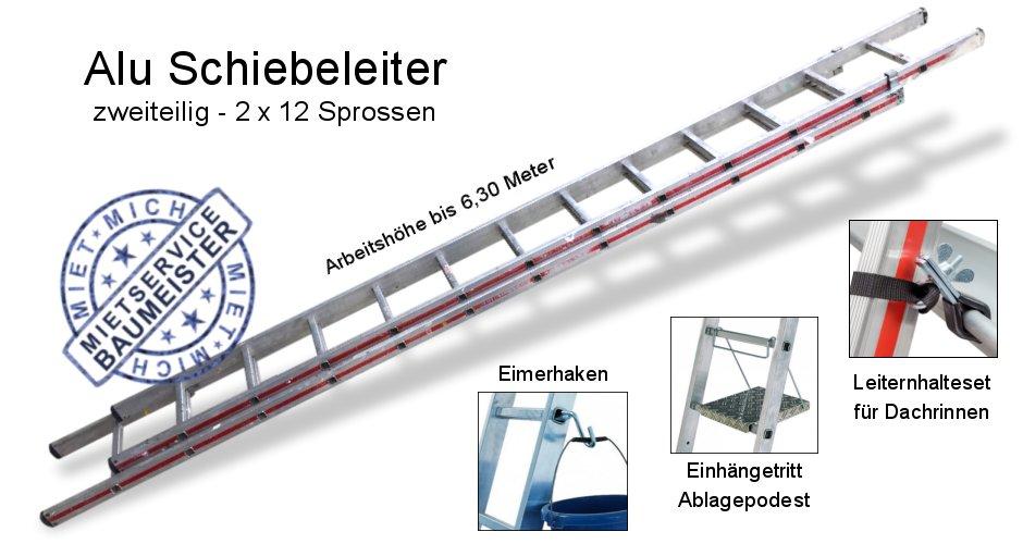 Leiter 2 x 12 Sprossen