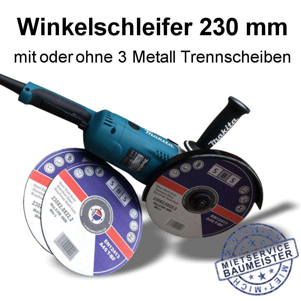 Makita Winkelschleifer 230 mm Metall Trennscheibe