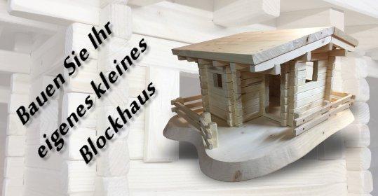 Blockhaus Holzhaus Vogelhaus