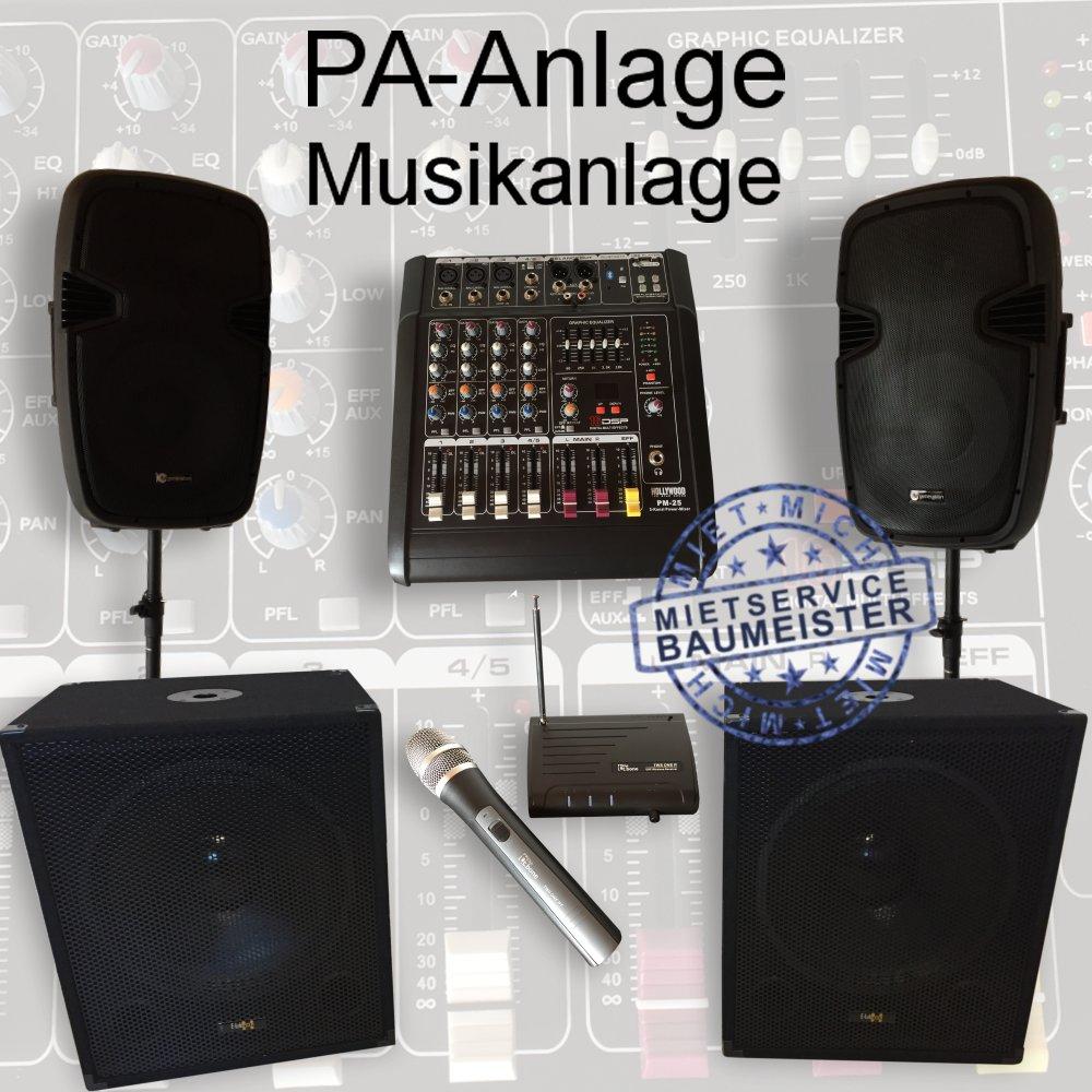 pa anlage musikanlage dj musik