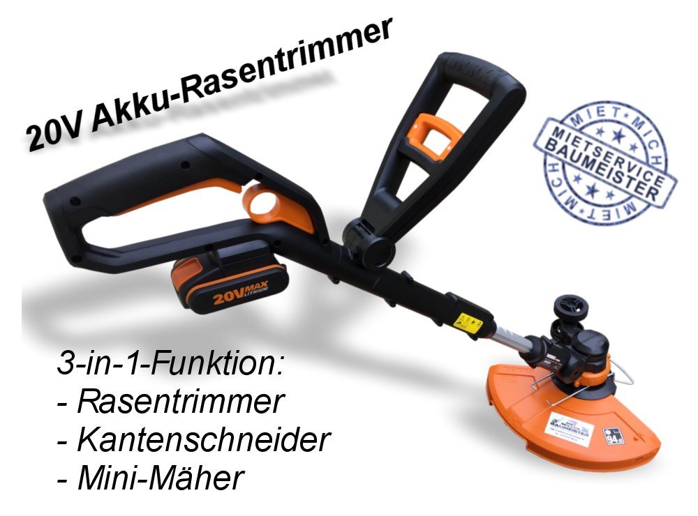 20V Akku Rasentrimmer Kantenschneider Mäher