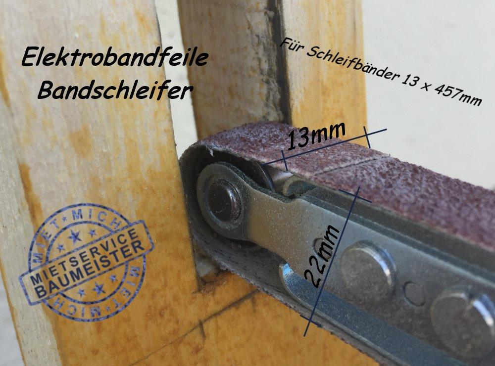 Bandfeile Bandschleifer Fingerfeile Schleifmaschine 13mm 22mm