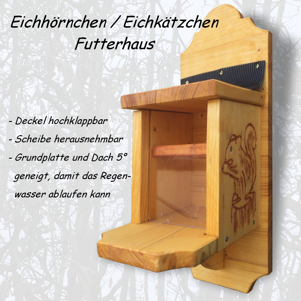 eichh rnchen eichk tzchen futterhaus selber bauen. Black Bedroom Furniture Sets. Home Design Ideas