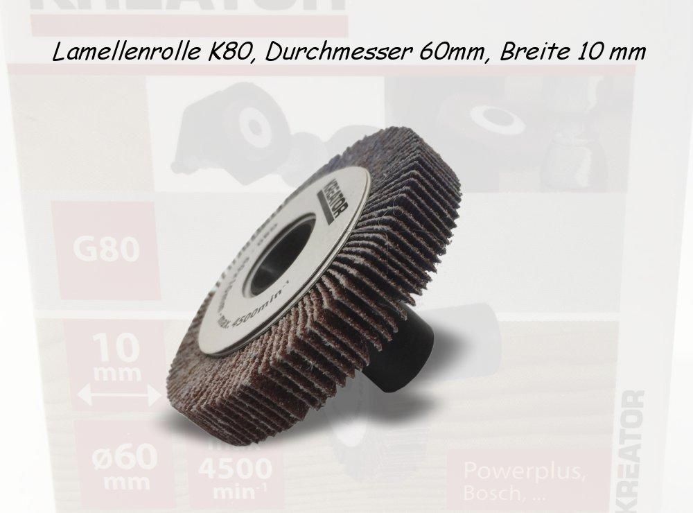 Lamellenrolle K80, Durchmesser 60mm, Breite 10 mm