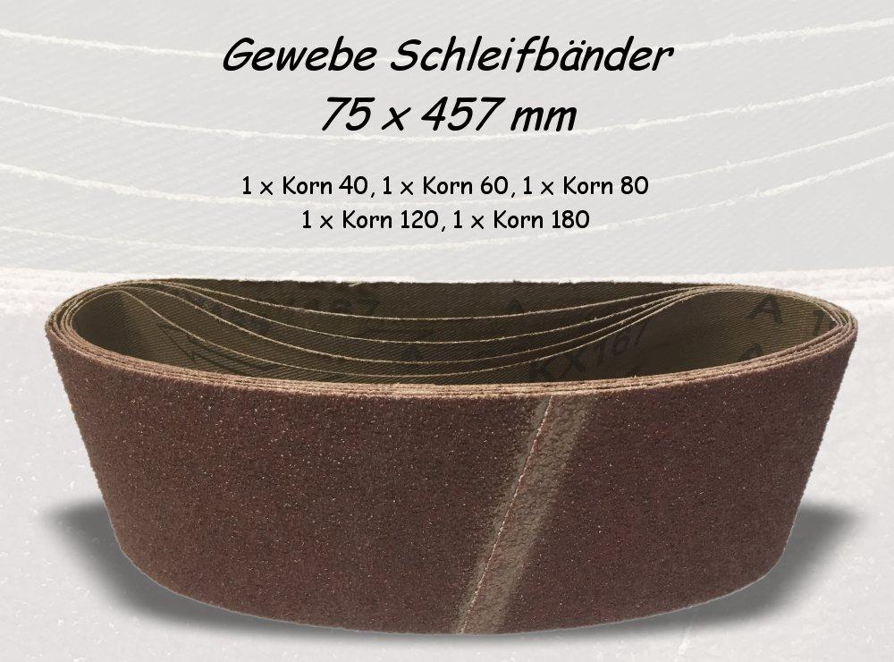 Gewebe Schleifband 75x457 mm