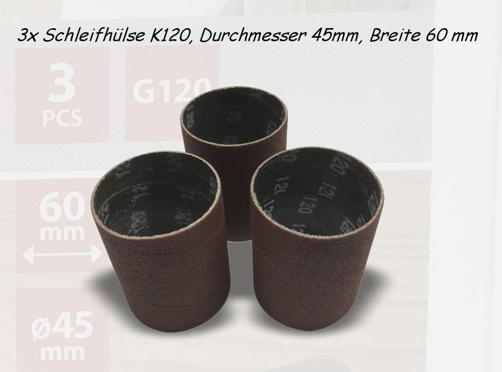 Schleifhülsen K120, Durchmesser 45mm, Breite 60 mm