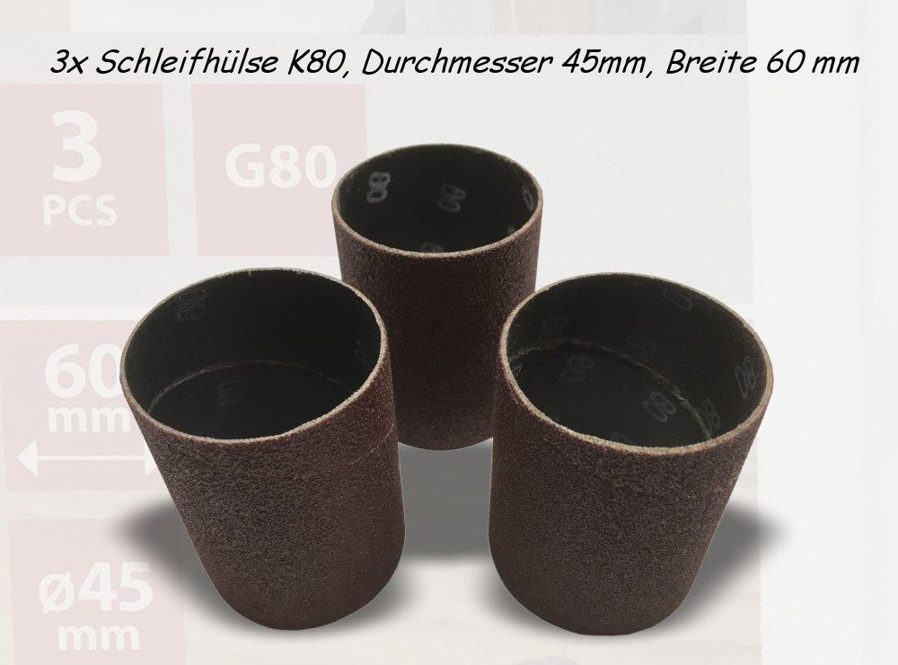 Schleifhülsen K80, Durchmesser 45mm, Breite 60 mm