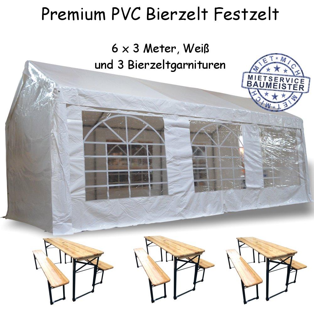 Zelt Festzelt Bierzelt PVC Partyzelt Bierzeltgarnituren mieten