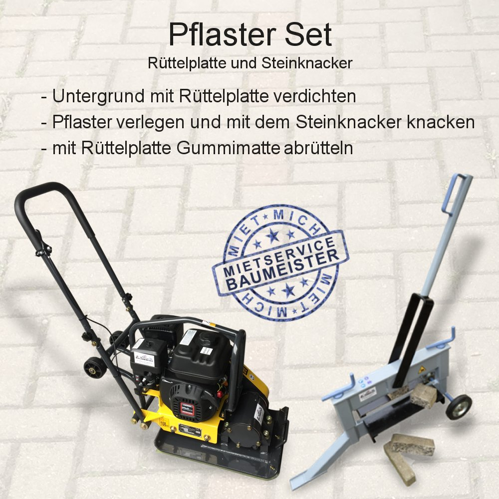 Rüttelplatte Vibrationsplatte Steinknacker Plattenspalter