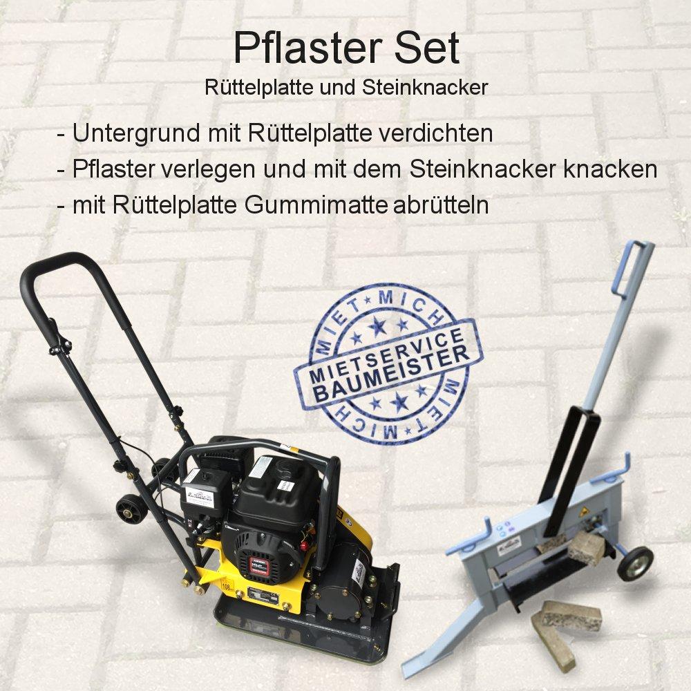 Rüttelplatte Vibrationsplatte Steinknacker Plattenspalter