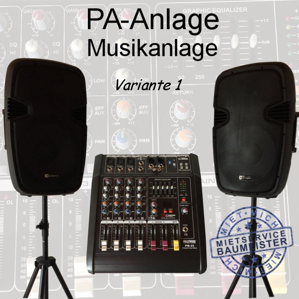 pa anlage musikanlage dj musik Variante 1