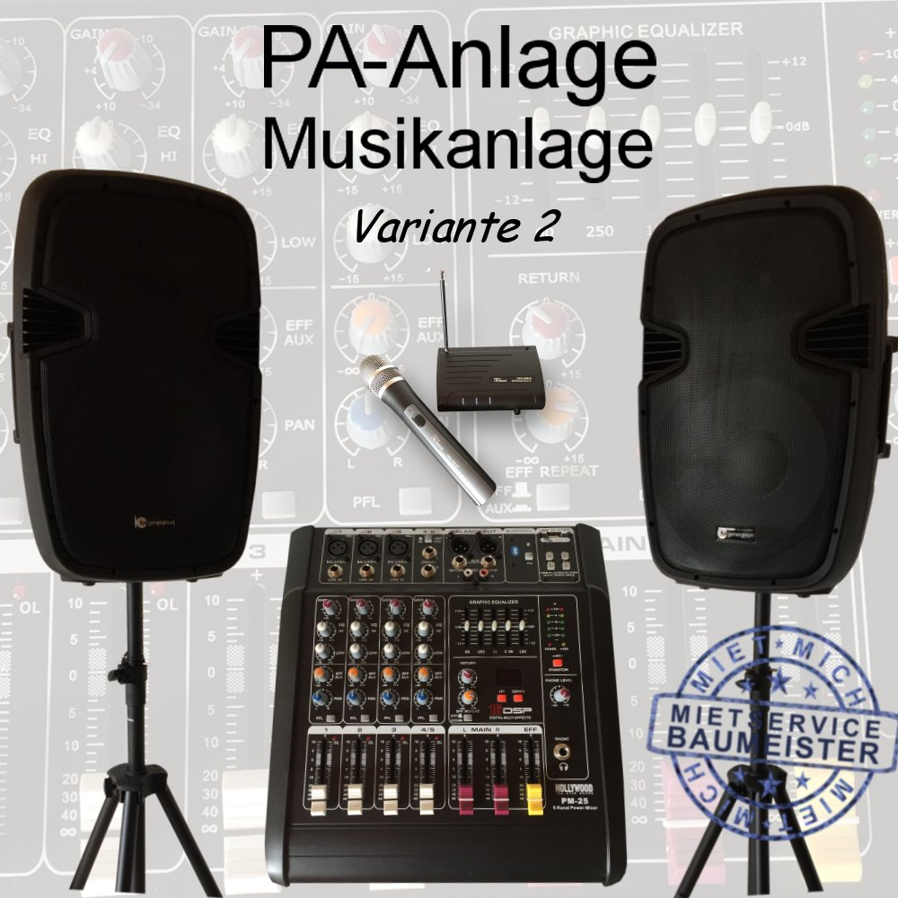 pa anlage musikanlage dj musik Variante 2