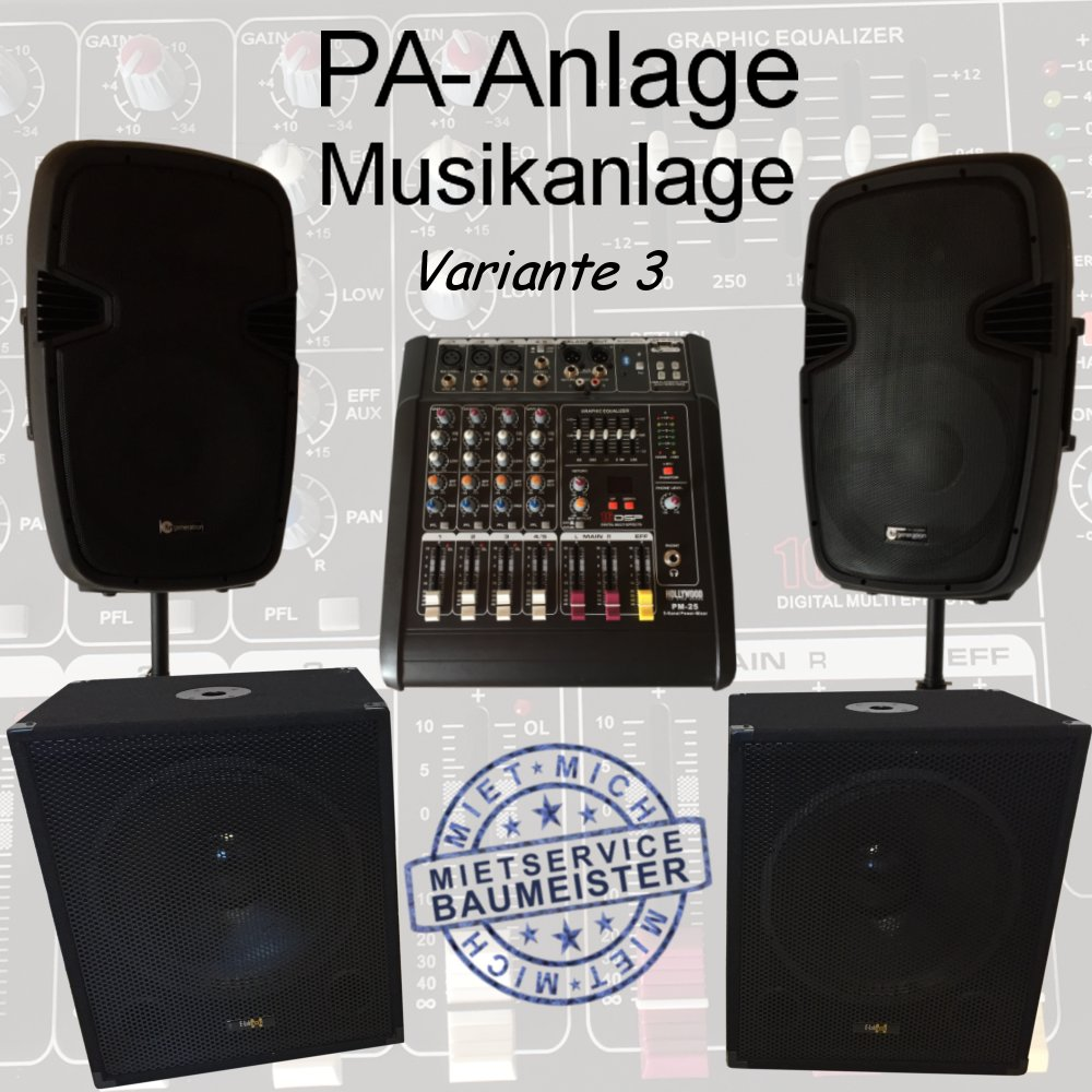pa anlage musikanlage dj musik Variante 3