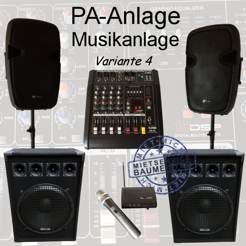 Pa Anlage Musikanlage Dj Anlage Party Richtfest Hauseinweihung