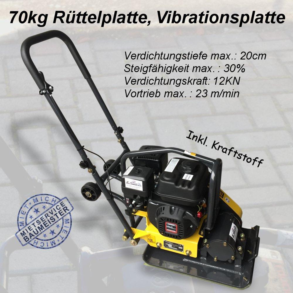 Rüttelplatte Vibrationsplatte 70kg 12kn