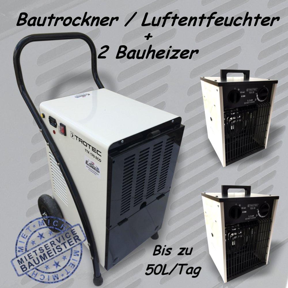 Bautrockner Luftentfeuchter Bauheizer
