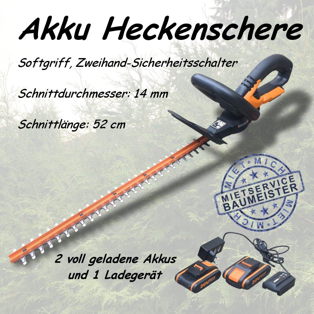 Akku Heckenschere mieten