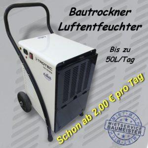 Bautrockner Luftentfeuchter schon ab 2€ pro Tag