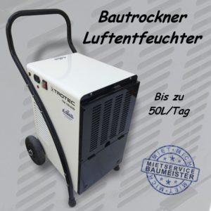 Bautrockner Luftentfeuchter max. 52L pro Tag