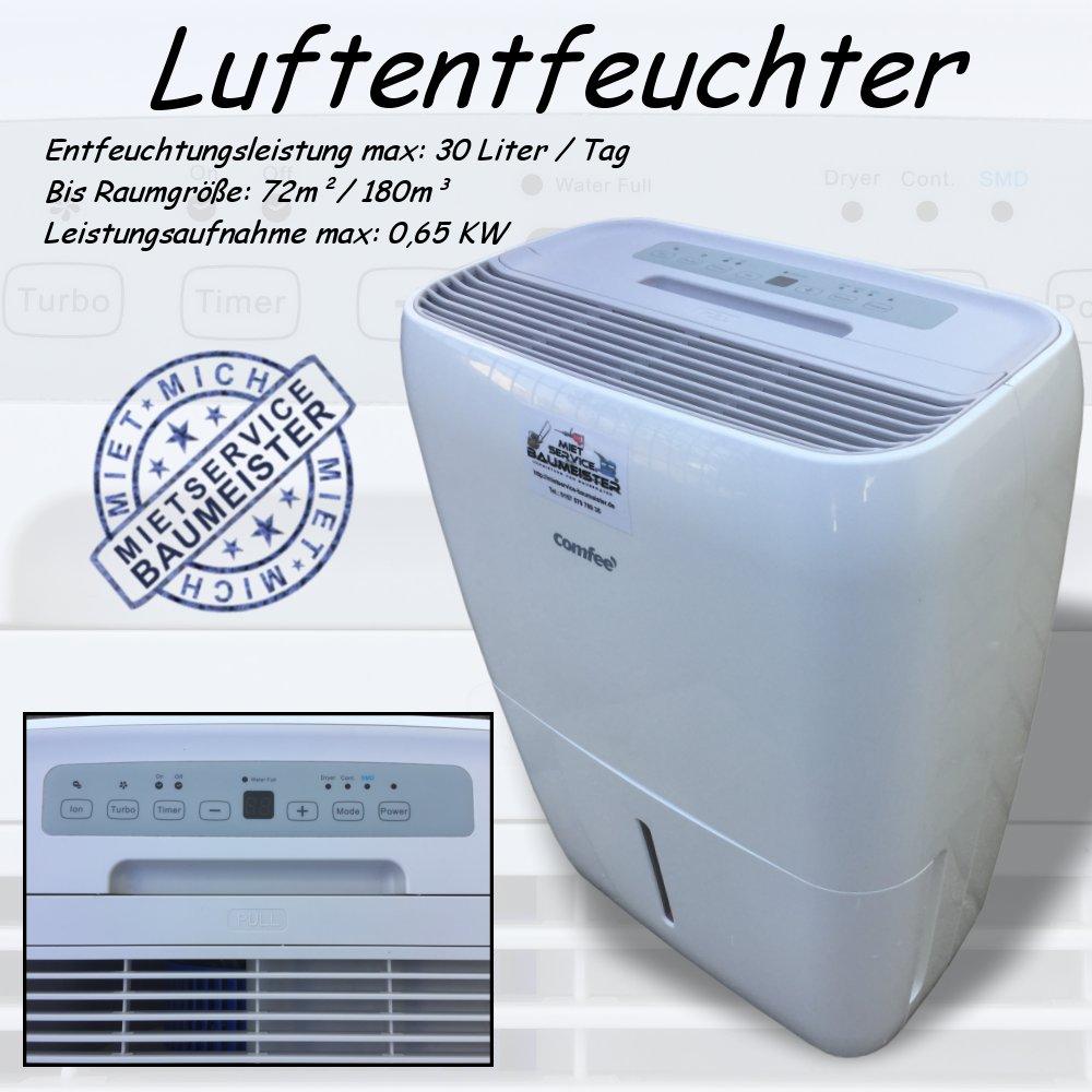 luftentfeuchter bautrockner 30 liter pro tag