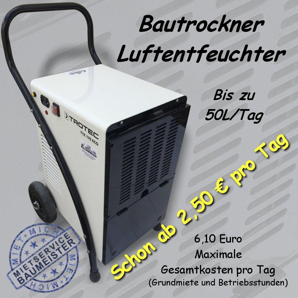 Bautrockner Luftentfeuchter 50 Liter