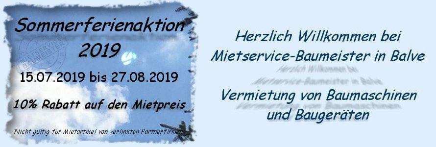 Sommerferienaktion 2019 - Mietservice-Baumeister